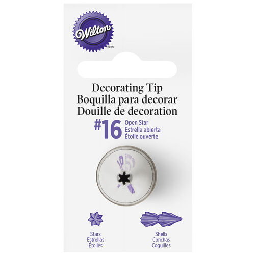 Wilton Decorating Tips - #16 Open Star Piping Tip