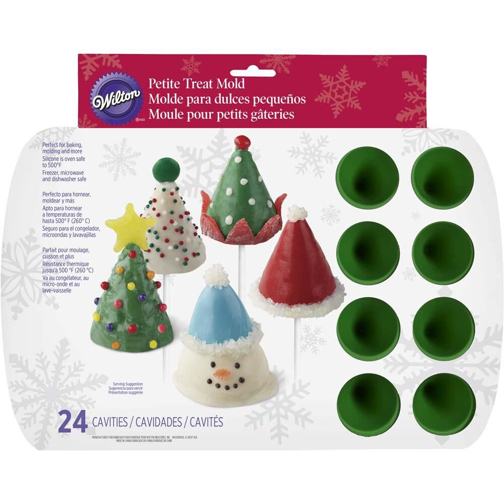 christmas cone silicone mini treat mold wilton