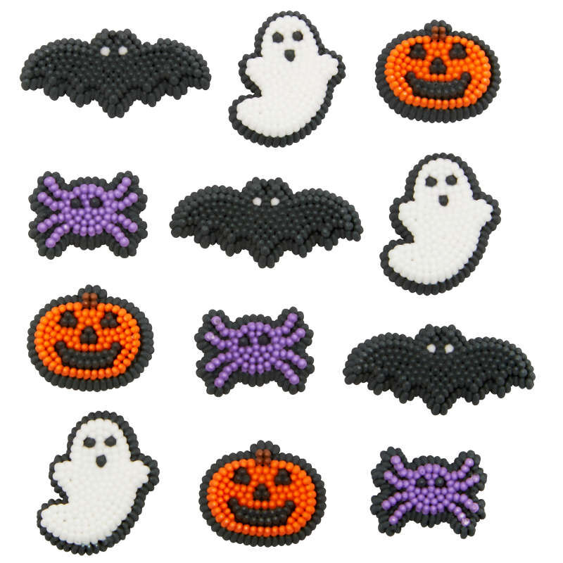 Halloween Shapes Icing Decorations, 12-Count image number 3