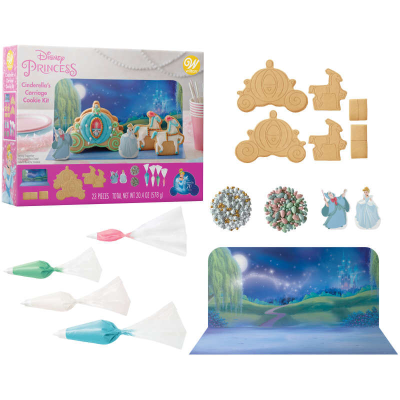 Disney Cinderella's Carriage Cookie Decorating Kit image number 1