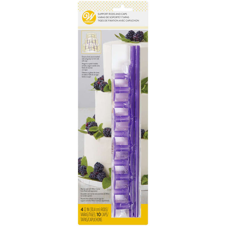 Plastic Support Rods and Caps, 14-Piece