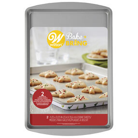 Bake and Bring Holiday Print Non-Stick Cookie Sheets, 2-Count