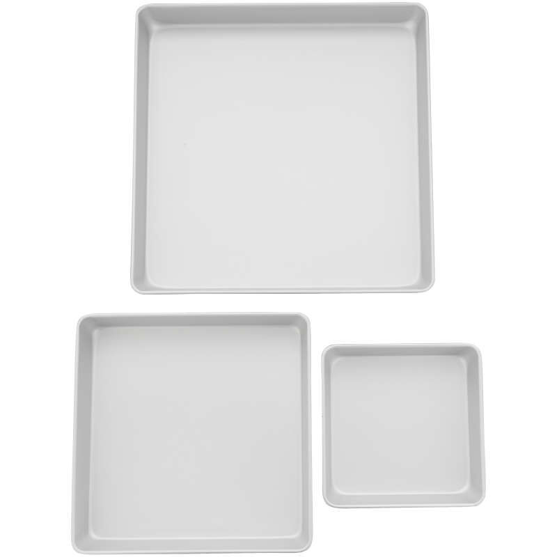 Performance Pans Square Cake Pans Set, 3 Piece -  8, 12 and 16-Inch Cake Pans image number 2