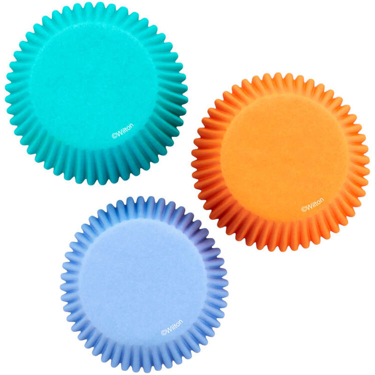 Teal, Orange and Purple Standard Baking Cups, 75-Count