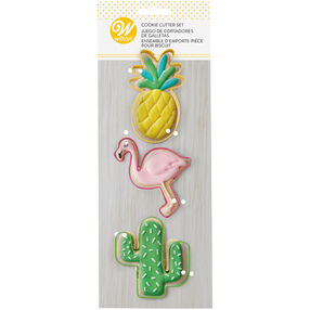 Tropical Cookie Cutter Set, 3-Piece