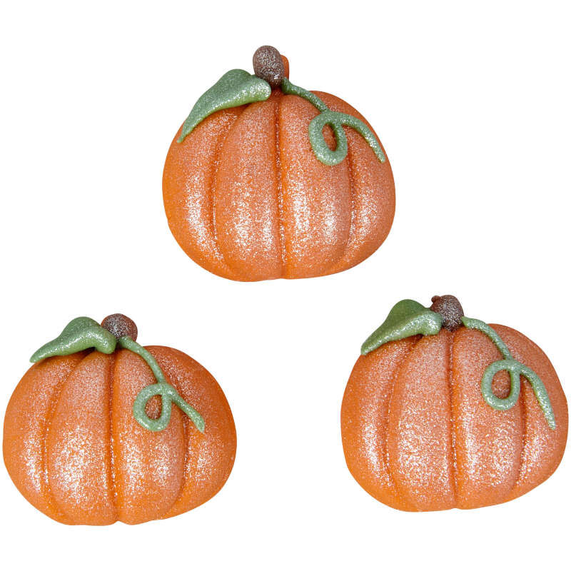 Shimmer Pumpkin Icing Decorations, 12-Count image number 0