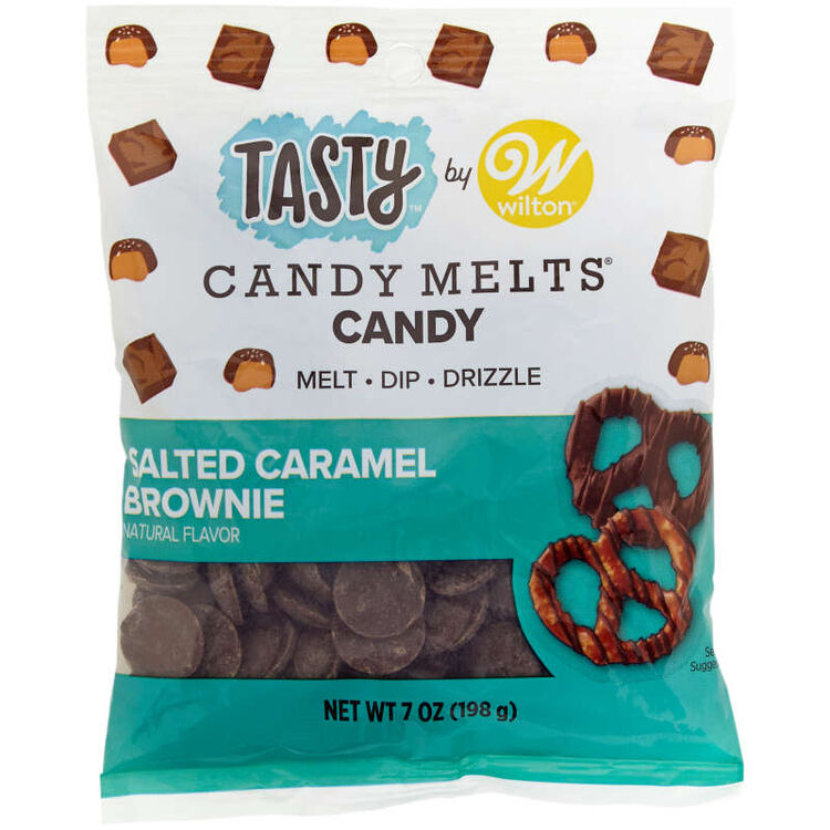 Tasty by Salted Caramel Brownie Candy Melts Candy, 7 oz.