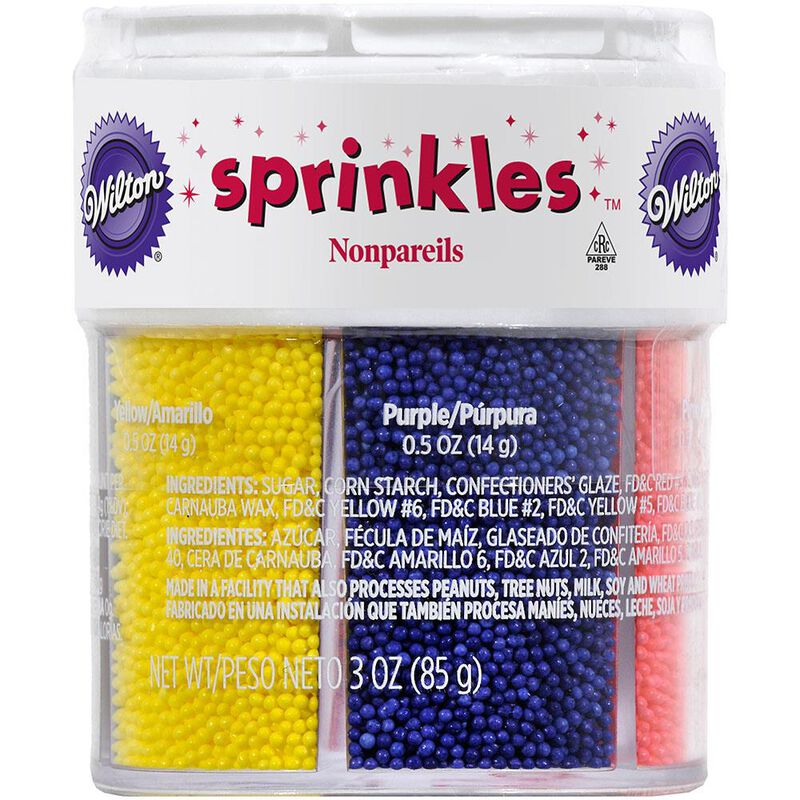 Assorted Color Nonpareils Sprinkles, 6-Colors image number 0