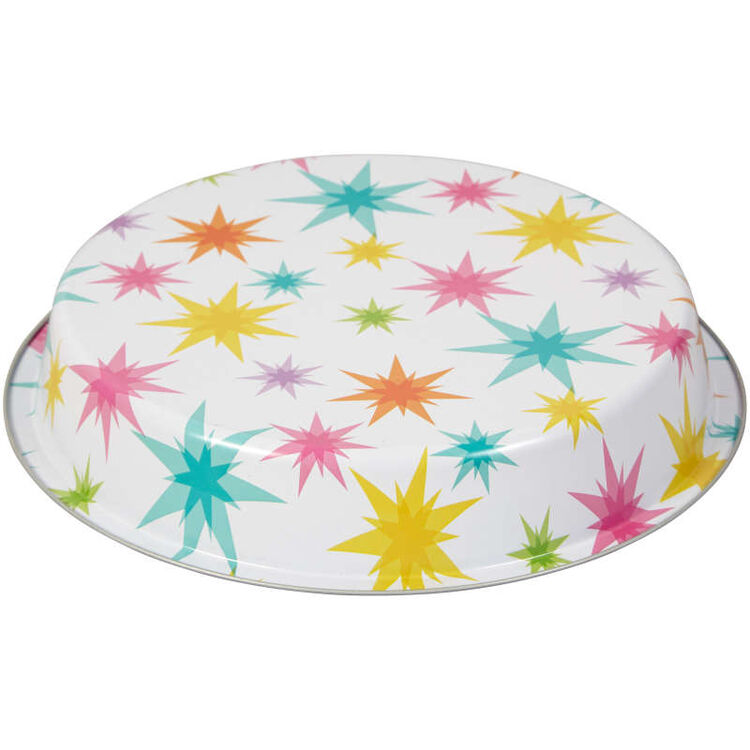 Bake and Bring Starburst Print Non-Stick Round Cake Pan, 8.5-Inch