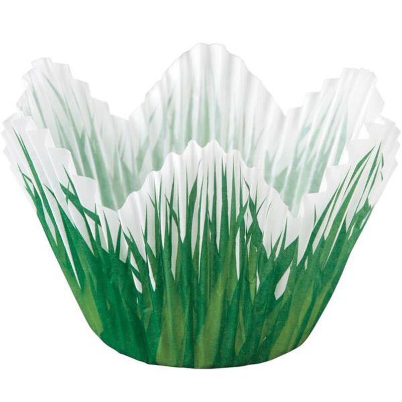 Grass Flower Petal Cupcake Liners, 24-Count image number 0