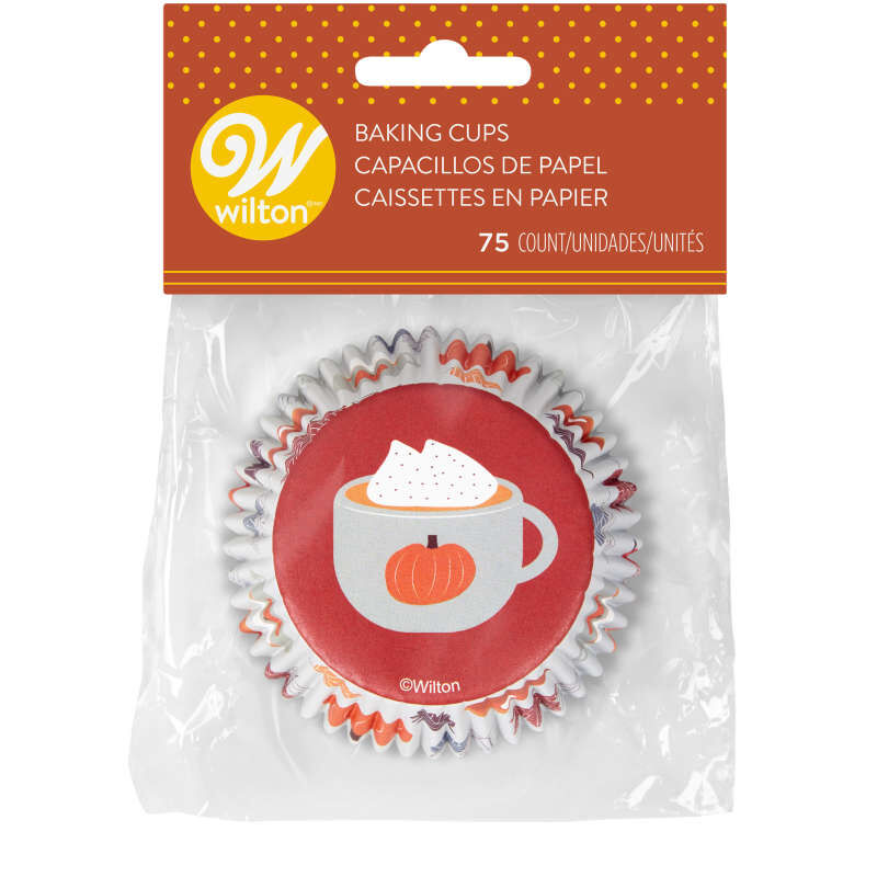 Welcome Fall Cupcake Liners, 75-Count image number 1