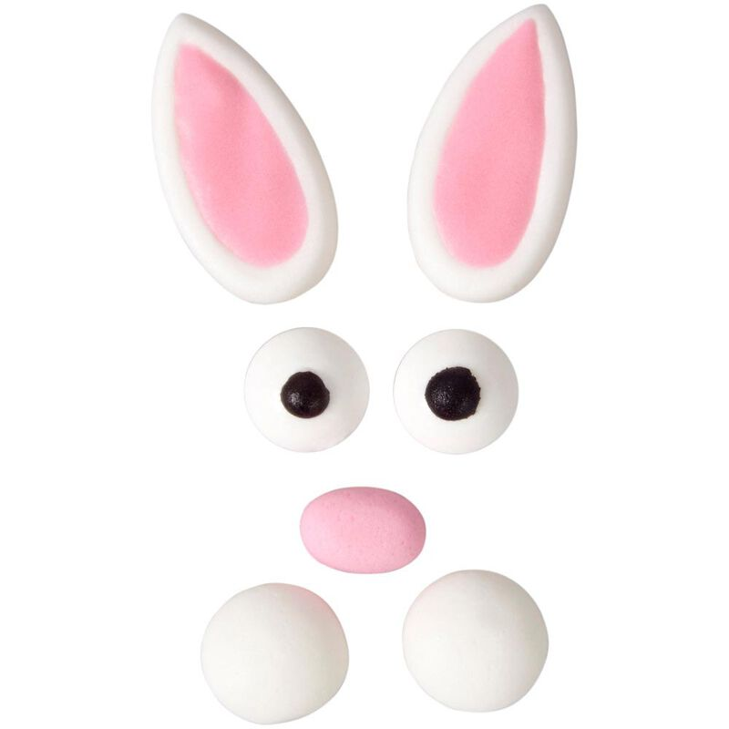 Easter Bunny Face Icing Decorations Kit image number 0