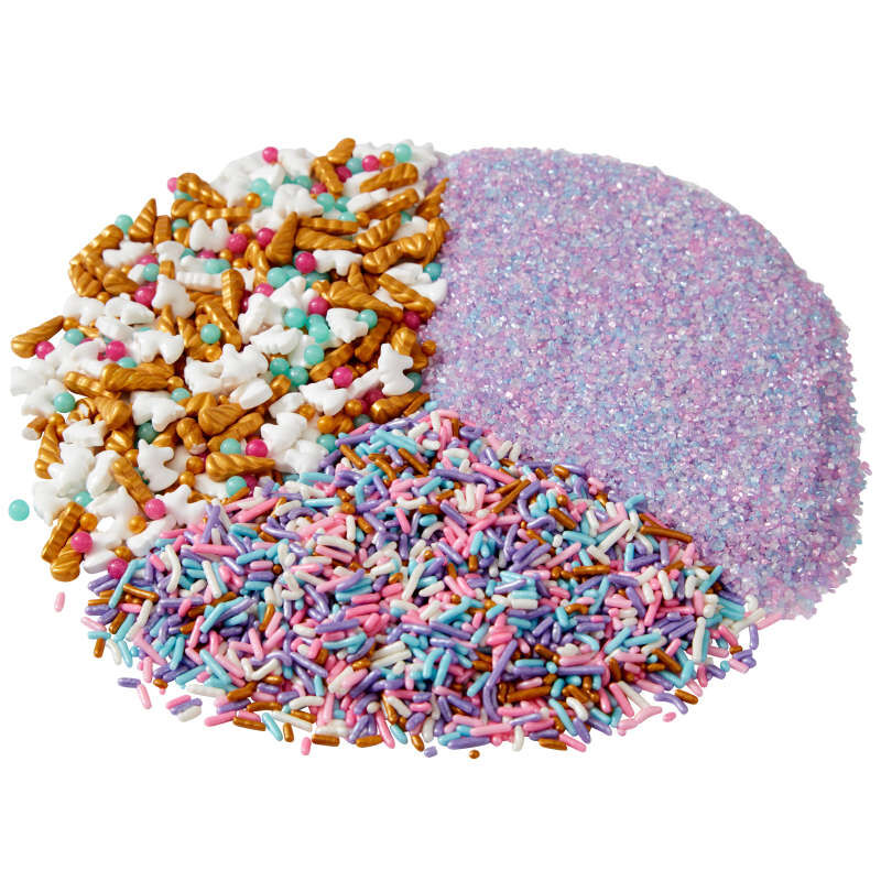 3-Cell Unicorn Sprinkles Mix with Turning Lid, 7.76 oz. image number 3