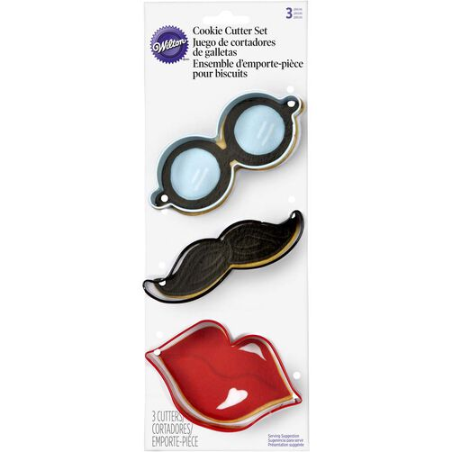 Moustache, Lips & Glasses Cookie Cutters