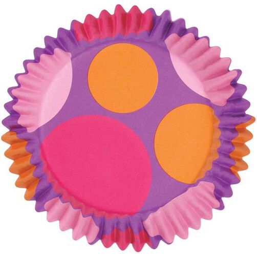 ColorCups Pink, Purple & Orange Dots Cupcake Liners