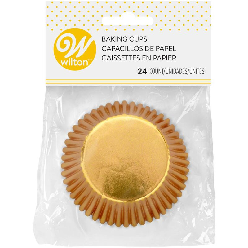 Gold Foil Cupcake Liners, 24-Count image number 1
