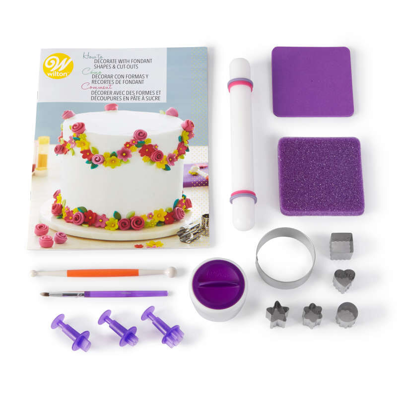 How to Decorate with Fondant Shapes and Cut-Outs Kit, 14-Piece image number 0