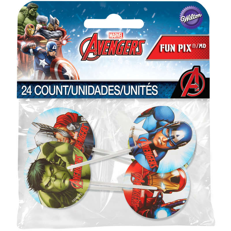 Marvel's Avengers Cupcake Toppers, 24-Count image number 1