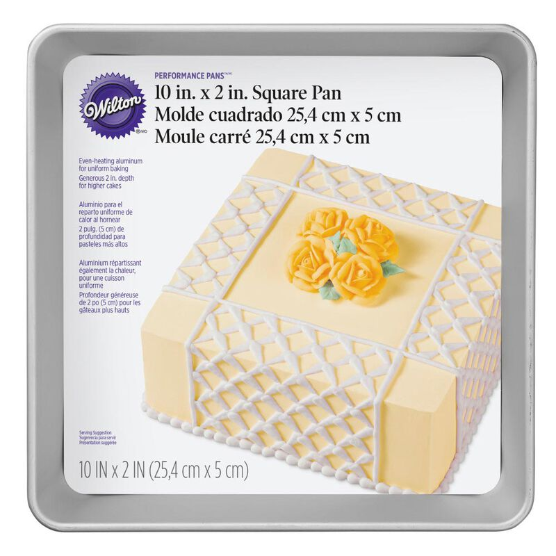 Performance Pans Aluminum Square Cake and Brownie Pan, 10-Inch image number 1