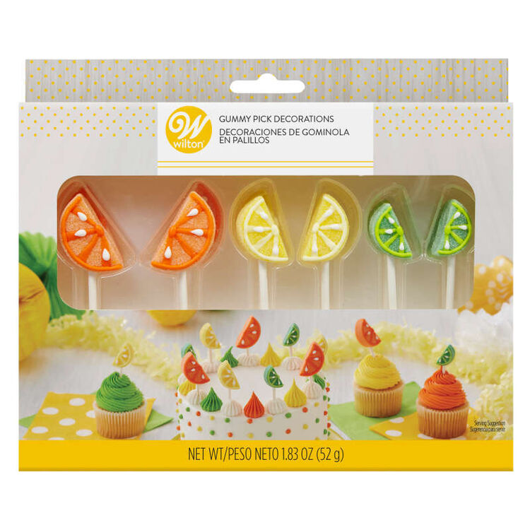 Tropical Party Gummy Pick Decorations, 12-Count