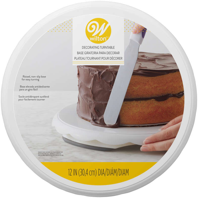 Round Decorating Turntable for Cake Decorating, 12-Inch image number 1