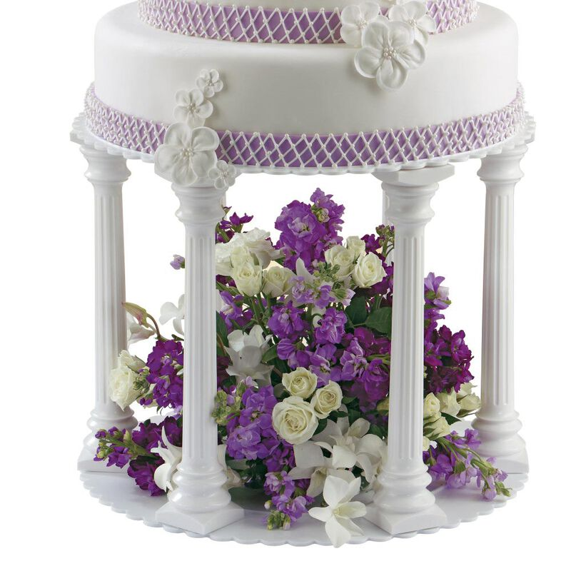 Roman Column Tiered Wedding Cake Stand, 8-Piece image number 4