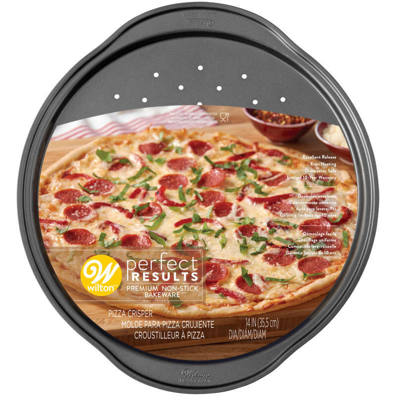 Perfect Results Non-Stick Pizza Crisper Pan, 14-Inch Pizza Pan image number 1