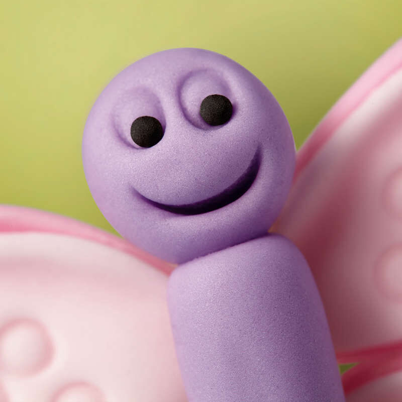 Purple Fondant Butterfly Face image number 11