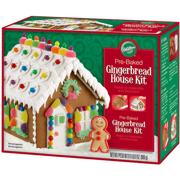 High Quality Pre Baked Gingerbread House Kit | Wilton