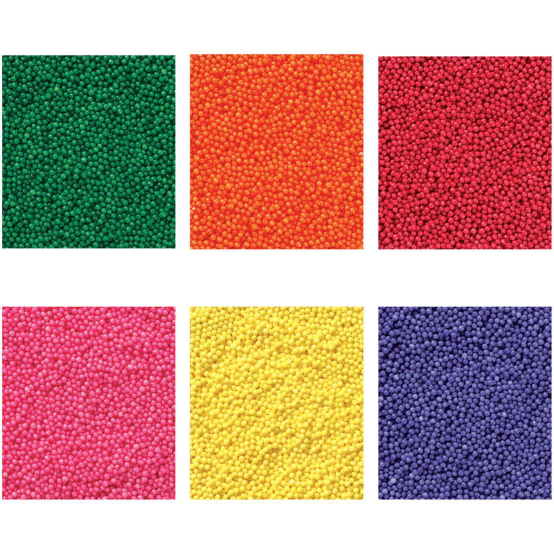 Assorted Color Nonpareils Sprinkle Color Swatches image number 1