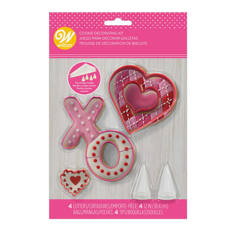 XO Valentine's Day Cookie Decorating Kit, 12-Piece