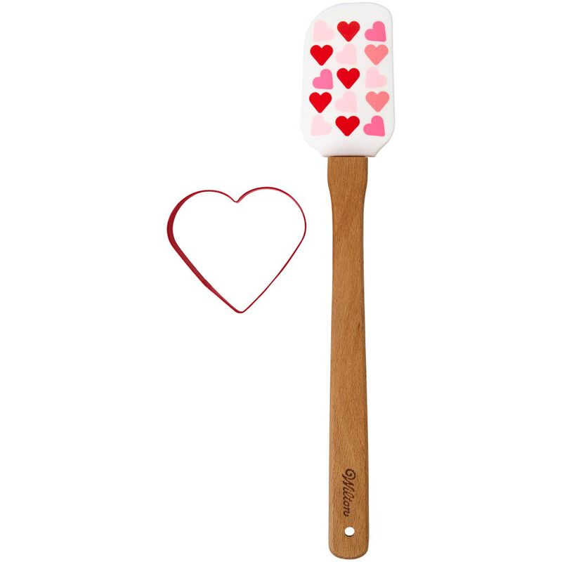 Valentine's Day Heart Spatula and Cookie Cutter Set, 2-Piece image number 0
