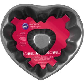 "8"" Heart Fluted Tube Pan"