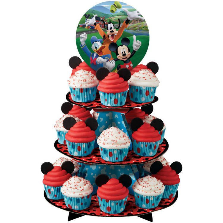 Mickey and the Roadster Racers Cupcake Stand in Use