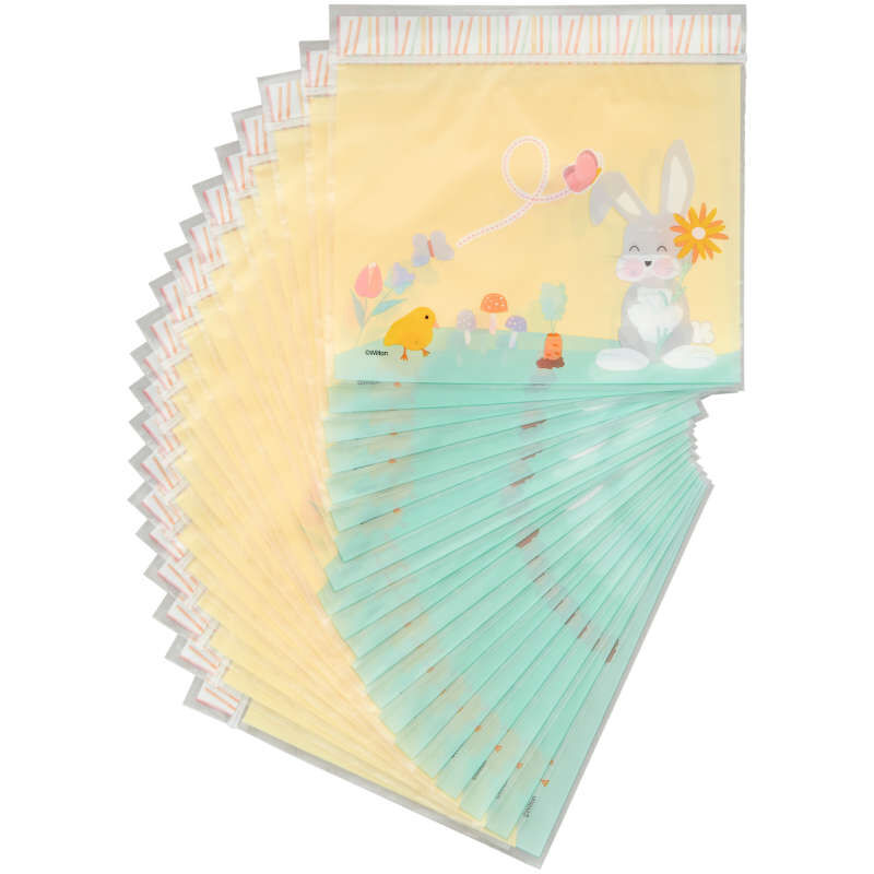 Easter Bunny Resealable Treat Bags, 20-Count image number 0