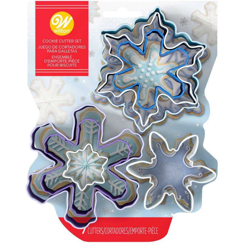 Snowflake Cookie Cutters Set, 7-Piece image number 1