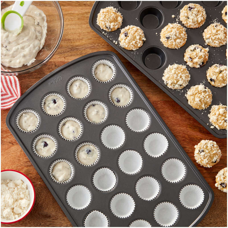 Perfect Results Premium Non-Stick Bakeware 24-Cup Mini Muffin Pan, Multipack of 2 image number 2