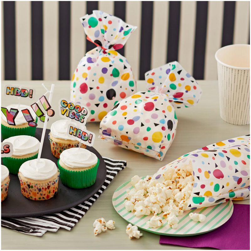 Geometric Print Treat Bags, 20-Count image number 2