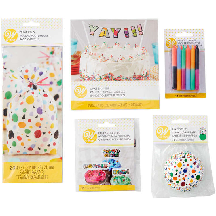 Birthday Party Decorating Kit Components in Packaging