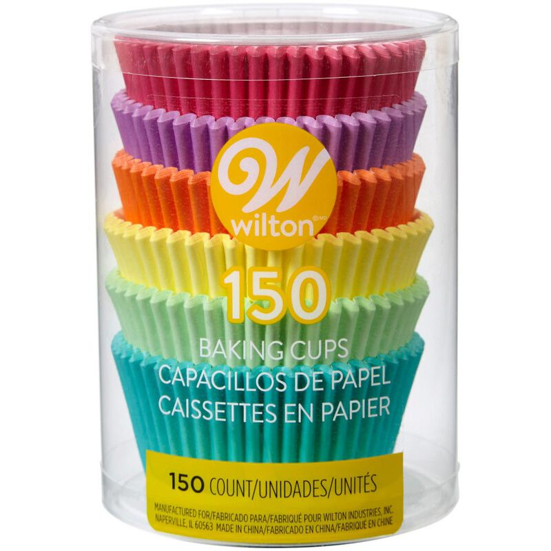 Pastel Rainbow Cupcake Liners, 150-Count image number 1