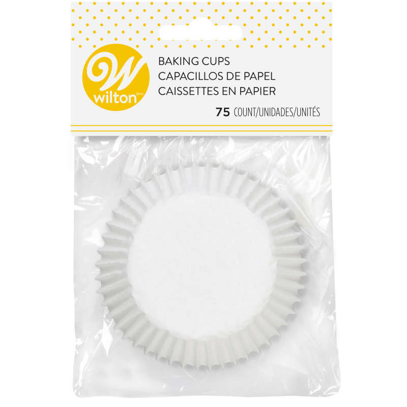 White Cupcake Liners, 75-Count image number 1