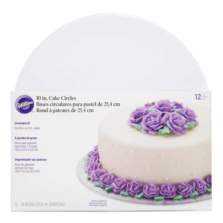 Cake Boards, Set of 12 Round Cake Boards for 10-Inch Cakes