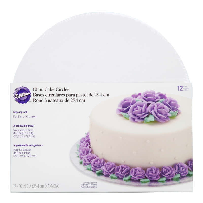 Cake Boards, Set of 12 Round Cake Boards for 10-Inch Cakes image number 1
