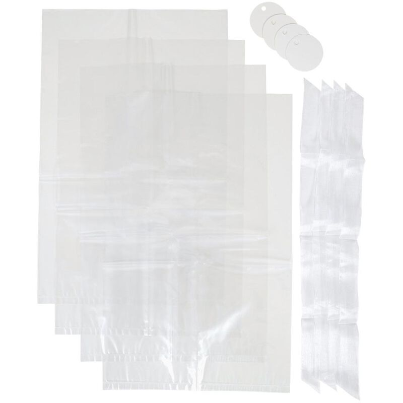 Clear Medium Treat Bags Kit, 4-Count image number 0