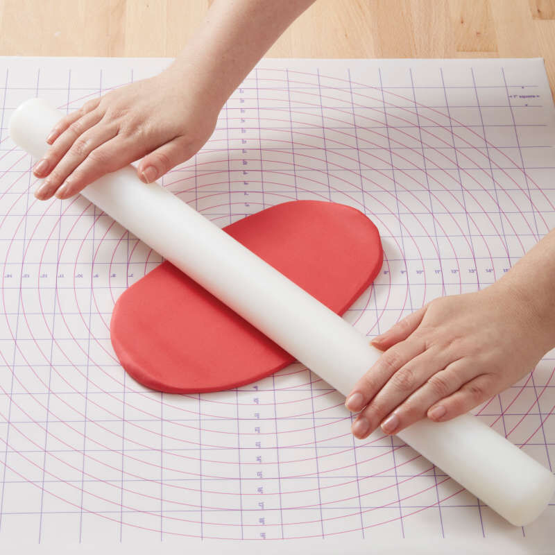 Large Fondant Roller with Guide Rings, 20-Inch - Fondant Tools image number 4
