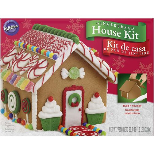 Build it yourself wilton gingerbread house decorating kit un assembled gingerbread house kit solutioingenieria Choice Image