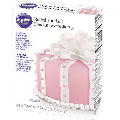Ready-To-Use Pastel Pink Rolled Fondant