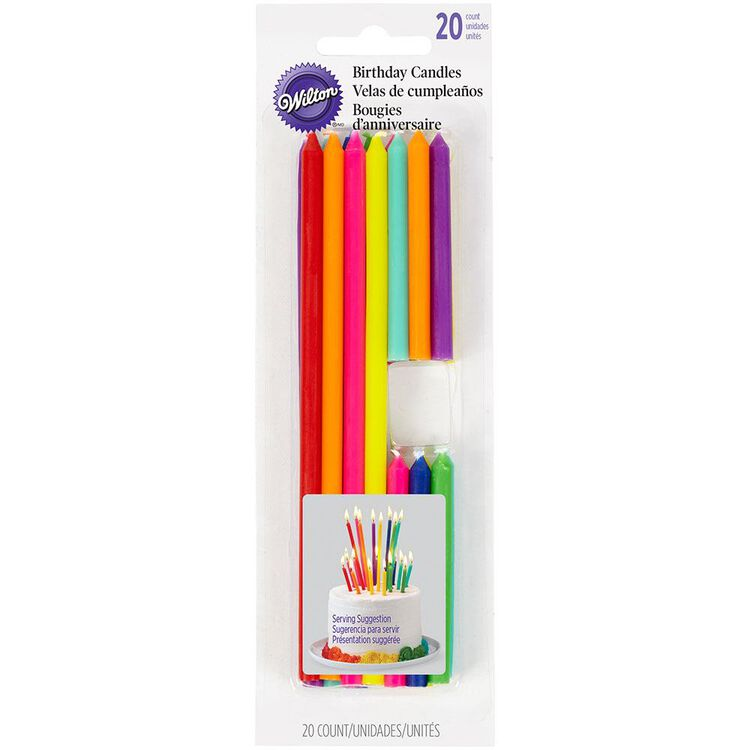 Tall and Short Birthday Candles, 20-Count