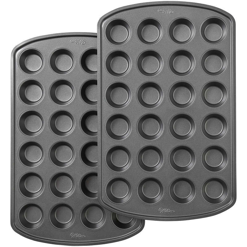 Perfect Results Premium Non-Stick Bakeware 24-Cup Mini Muffin Pan, Multipack of 2 image number 0