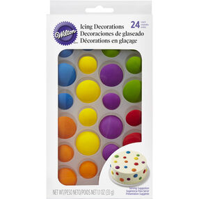 Colorful Dots Edible Icing Decorations